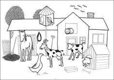Situační obrázky - Na dvoře, domácí zvířata