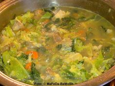 Savoy stew - recipe with picture - Savoy cabbage stew - Vegan Vegetable Soup, Vegetable Dishes, Raw Food Recipes, Vegetarian Recipes, Cabbage Stew, Savoy Cabbage, Paleo Soup, Paleo Meal Plan, Cooking Dishes