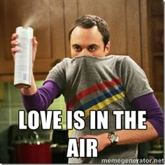 Sheldon Cooper germophobe -  love is in the air