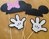 free printable black and white photo prop | Piece Photo Prop, Minnie and Mickey Mouse Inspired Photo Props, Photo ...