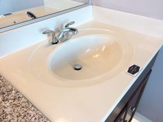 Standard Bathroom Counter - Cultured Marble with Integrated Sink