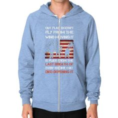 OUT FLAG DOESNT FLY Zip Hoodie (on man)
