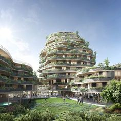 crespy & aumont architectes and WY-TO's tree-like structure blends city and nature