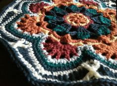 First tile on my Persian Tile Crochet Blanket. Pattern by Janie Crow