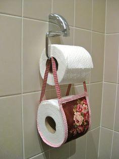 Cute idea!  Toilet roll basket tutorial