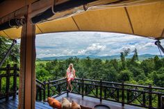 Adjustable Tent Flaps Open To This View- Four Seasons Tented Camp, Golden Triangle  www.theroadlestraveled.com