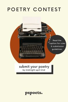 """We're excited to announce that our next POET OF THE MONTH CONTEST is LIVE. 🙌@pspoets is now accepting submissions for original poetry until THIS Friday 4/2/21 THEME: The Poet's Odyssey🧳📝 In honor of #napowrimo, we'd like you to submit a poem that captures the essence of your own personal """"poetic"""" journey - the accomplishments, the struggles, moments of clarity or self-realization, reflection, etc. Tell us your story. Click the link for contest rules. Writing Prompts Poetry, Poetry Contests, Contest Rules, Self Realization, Spoken Word, Writing Activities, Creative Writing, Your Story, Submissive"""