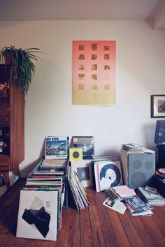 Freunde von Freunden — Sabine-Lydia Schmidt — Record Label Owner, Apartment, Gutleutviertel, Frankfurt — http://www.freundevonfreunden.com/interviews/sabine-lydia-schmidt/