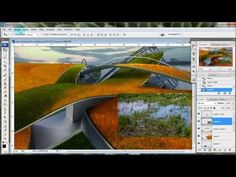 how to make photoshop landscape/grass Landscape Architecture Design, Landscape Plans, Urban Landscape, Landscape Architects, Photoshop Design, Photoshop Tutorial, Photoshop Video, Traditional Landscape, 3d Max