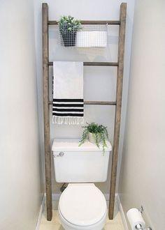 Diy Bathroom Storage Over Toilet 31 New Ideas Bathroom Storage Over Toilet, Toilet Shelves, Diy Bathroom, Budget Bathroom, Bathroom Organization, Bathroom Interior, Master Bathroom, Bathroom Remodeling, Bathroom Makeovers