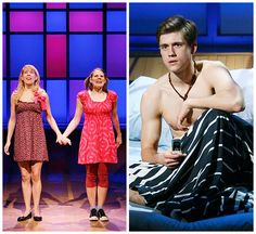 Mary Faber, Celia Keenan-Bolger and Aaron Tveit in Off-Broadway's Saved (2008).