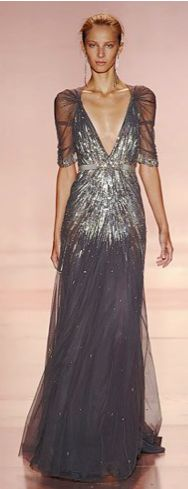 A gorgeous sequined Jenny Packham gown.