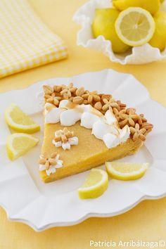 Lemon tart. Tarta de limón y merengue italiano del Curso Online de Repostería Fácil y Chic de Patricia Arribálzaga.