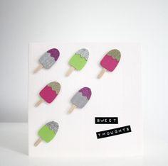 DIY: Jäätelökortti / Ice Cream Greeting Card Greeting Cards, Ice Cream, Crafts, Diy, No Churn Ice Cream, Manualidades, Bricolage, Icecream Craft, Diys