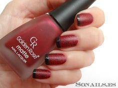Manicura Encaje Rojo y Negro