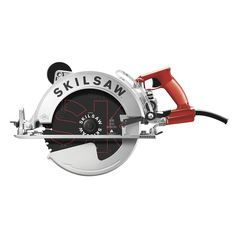 SKILSAW SAWSQUATCH Worm Drive Corded Circular Saw with Magnesium Shoe at Lowe's. If you cut there's nothing like cutting it in one pass with this SKILSAW worm drive saw. No matter what the material, this worm drive saw Worm Drive Circular Saw, Circular Saw For Sale, Circular Saw Reviews, Best Circular Saw, Woodworking Saws, Woodworking Crafts, Table Saw Stand, A Table, Table Saw Station