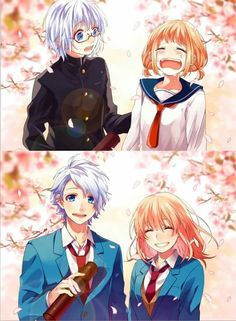 Image about love in Anime Romance 💖💖💖 by ~ Mira ~ ♥️ Couple Amour Anime, Anime Love Couple, Cute Anime Couples, Koi, Zutto Mae Kara, Honey Works, Tamako Love Story, Another Anime, Manga Art