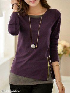 Women Hoodies Sweatshirts 2018 Casual Long Sleeve Moletom Feminina Felpe Donna Kpop Pullovers Zippers Tops Plus Size 5 Purple XL Stil Inspiration, Cheap Womens Tops, Flirt, Sweatshirt, Hoodie, Shirt Blouses, Long Sleeve Tops, Tunic Tops, Clothes For Women