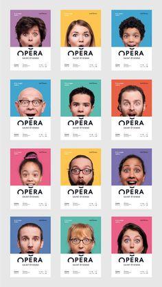 O incrível e divertido branding do Saint-Étienne Opera House | Update or Die! Corporate Design, Corporate Identity, Identity Design, Visual Identity, Identity Branding, Web Design, Layout Design, Logo Design, Brochure Design