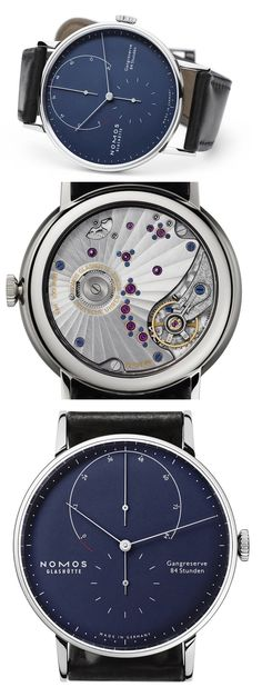 Nomos Lambda Deep Blue [One of my fave watches from Nomos has been updated in this gorgeous blue!!!]