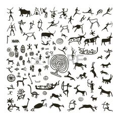 Petroglyphs Illustrations and Clip Art. 267 Petroglyphs royalty free illustrations and drawings available to search from thousands of stock vector EPS clipart graphic designers. Art Pariétal, Paleolithic Art, Stone Age Art, African Symbols, Cave Drawings, Art Premier, Illustration, Native Art, Tribal Art