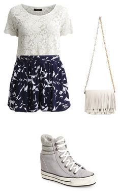 """Violetta 3 outfit"" by violetta-forever ❤ liked on Polyvore featuring beauty, VILA, Roxy, Converse and Proenza Schouler"