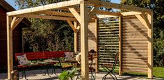 Marie Claire, Construction, Outdoor Structures, Tiny Houses, Gardens, Garden Landscaping, Building A Pergola, Outdoor Seating, How To Build