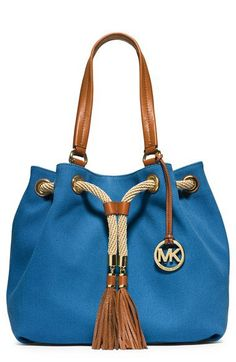 MICHAEL Michael Kors 'Large' Canvas Drawstring Tote | Nordstrom