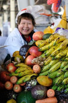 Lots of fresh fruit and vegetables at San Pedro