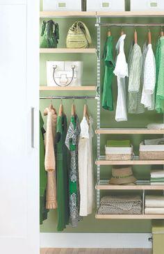 Birch & White elfa décor Small Reach-In Closet Kids Shoe Storage, Closet Shoe Storage, Closet Shelves, Closet Organization, Storage Ideas, Elfa Closet, Kid Closet, Closet Ideas, Hall Closet