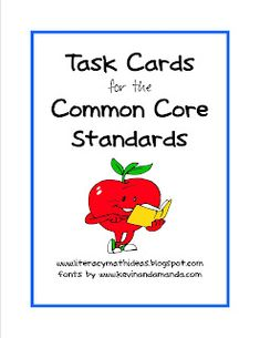 Common Core Task Cards for Each Grade Level!  There is an open-ended task card written for EVERY Literature and Informational Text Standard.  It is such a convenient way to cover the Common Core Standards.