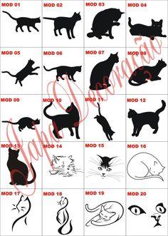 Adesivos Decorativos Gatos (Adesivos de Parede) a BRL 11 em PrecioLandia Brasil (8e5o0f)