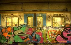 The Words of the Prophets Are Written on the Subway Walls…. Train Drawing, Street Art Graffiti, Rome Italy, Public Art, In The Heights, Neon Signs, Drawings, Pictures, Photos