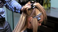 Perfect Hair Tape Hair Extensions Tutorial @ashmcb92 this is a good tutorial for when we put mine back in sometime.