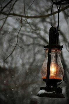 Remember to keep the light burning bright during the winter, to remind yourself that the sun will come and warm us once more. Lamp Light, Light Up, Old Lanterns, Over The Garden Wall, Oil Lamps, Belle Photo, Pictures, Photos, Photography