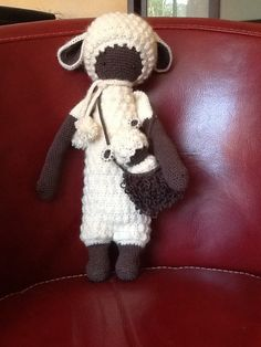 LUPO the lamb made by Corinne B. / crochet pattern by lalylala