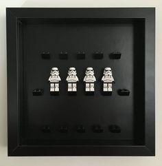 Lego Minifigure Frame Display Case for Lego Minifigures Black background Frame Display, Display Case, Lego Christmas Gifts, Lego Frame, Brick Loft, Black Backgrounds, Lego Minifigure, Layout, Gift Ideas