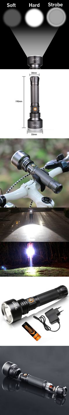 YAGE YG-331C CREE XP-G 1000-2000LM Tactical Waterproof CREE LED Flashlight Torch light With 2400mAh 18650 Rechargeable Battery