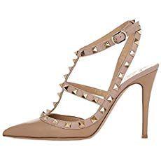 58da44e8cd06d VOCOSI Women's Slingbacks Strappy Sandals for Dress,Pointy Toe Studs ...