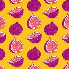 #fig #fruit #orange #violet #pattern #redbubble #society6 #chuvardina #fresh #juice #colors #colorful