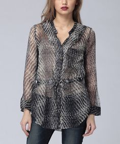 Take a look at this Tar Sheer Cameron Silk Top by Heartloom on #zulily today!