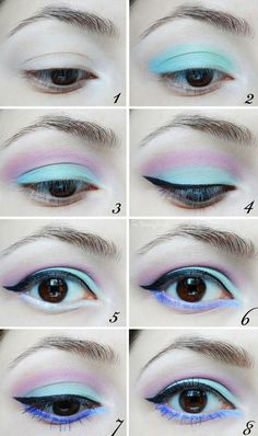 But you can pair black liner and lipstick with a bunch of pastel shadows. | How To Be A Pastel Goth