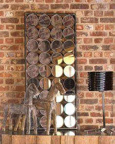 A striking large rectangular wall mirror with circles in an antique silver finish. A dramatic large statement mirror for hallways, living rooms and bedrooms. Hallway Mirror, Metal Mirror, Antique Silver, Circles, Sconces, Wall Lights, Decorative Mirrors, House Design, Antiques
