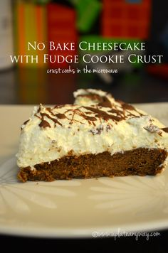 Up Late Anyway Low Carb Recipes No Bake #cheesecake with fudge #cookie crust  / #lowcarb ♥ shared via https://facebook.com/lowcarbzen