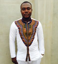 Men's Dashiki Shirt/ Dashiki Shirt/  African Print by AdinkraExpo