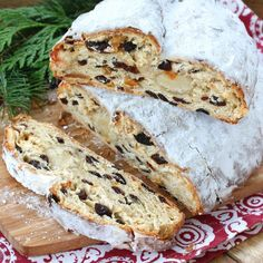 German Stollen have been around for nearly 700 years and are prized throughout the world as one of the most famous and beloved of all Christmas pastries. Your search for the BEST authentic Stollen recipe Christmas Bread, Christmas Baking, Christmas Foods, Recipe For Christmas Stollen, German Christmas Food, Christmas Traditions, German Stollen, Stollen Bread, German Bread