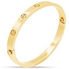 Designer Inspired Love Screw Bangle Bracelet in 18k Gold Plating – Silver Phantom Jewelry