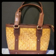 Etienne Aigner!  Wicker purse very cute! Etienne Aigner,  wicker purse, used 1 time!, very cute and great with every outfit!;) etienne Aigner Bags Clutches & Wristlets