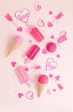 Pink popsicles