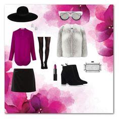 """Pinky Dream"" by stylishkitten-me on Polyvore featuring moda, Maison Michel, Etro, Marc Jacobs, Bony Levy, NARS Cosmetics, Harrods, SPANX, Edie Parker ve Linda Farrow"